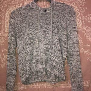 Rue 21 -Hooded drawstring grey hoodie